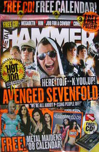 Metal Hammer magazine - Avenged Sevenfold cover (December 2007)