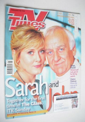 <!--2001-05-26-->TV Times magazine - Sarah Lancashire and John Thaw cover (