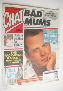 Chat magazine - Bruce Willis cover (25 November 1989)