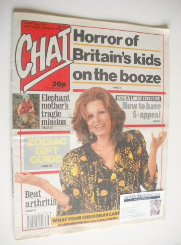 <!--1989-12-02-->Chat magazine - Sophia Loren cover (2 December 1989)