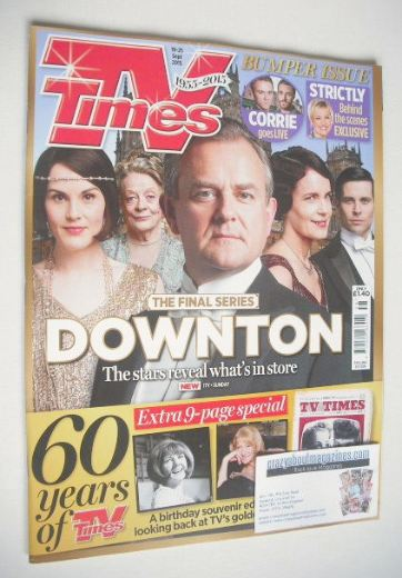 <!--2015-09-19-->TV Times magazine - Downton cover (19-25 September 2015)
