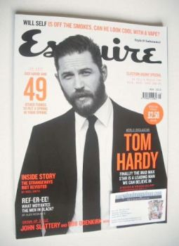 Esquire magazine - Tom Hardy cover (May 2015)