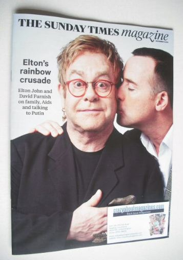 <!--2015-11-09-->The Sunday Times magazine - Elton John and David Furnish c