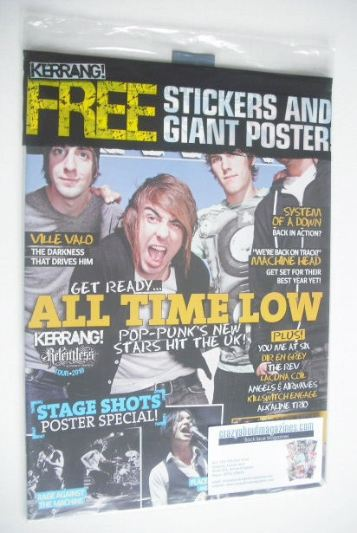 <!--2010-01-23-->Kerrang magazine - All Time Low cover (23 January 2010 - I
