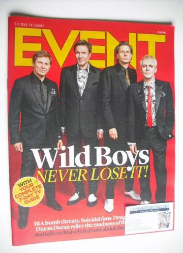 <!--2015-07-26-->Event magazine - Duran Duran cover (26 July 2015)