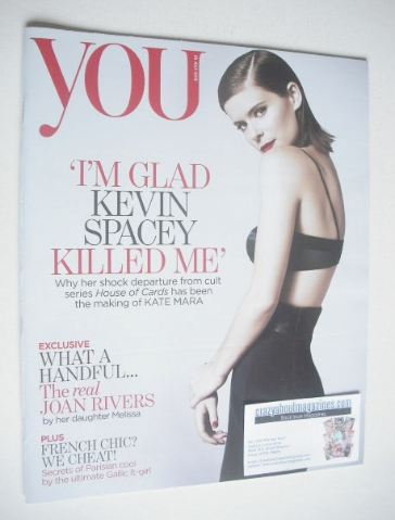 <!--2015-07-26-->You magazine - Kate Mara cover (26 July 2015)