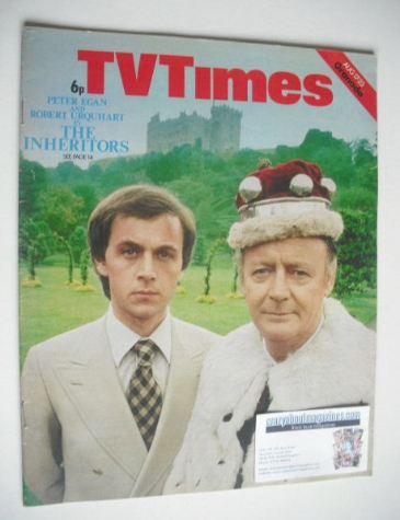 <!--1974-08-17-->TV Times magazine - Peter Egan and Robert Urquhart cover (