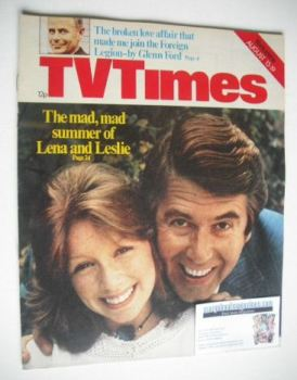 TV Times magazine - Leslie Crowther and Lena Zavaroni cover (13-19 August 1977)