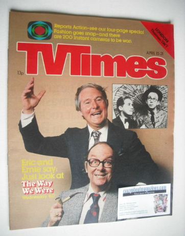 <!--1978-04-15-->TV Times magazine - Eric Morecambe and Ernie Wise cover (1