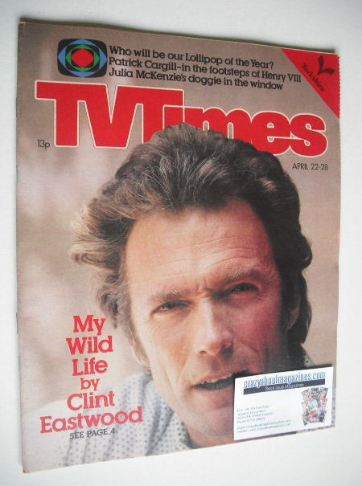 <!--1978-04-22-->TV Times magazine - Clint Eastwood cover (22-28 April 1978