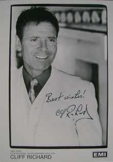 Sir Cliff Richard autograph