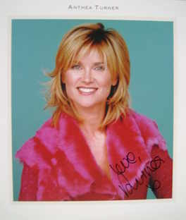 Anthea Turner autograph (hand-signed photograph)