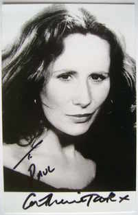 Catherine Tate autograph (hand-signed, dedicated)
