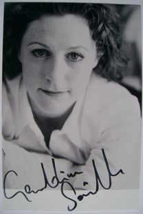 Geraldine Somerville autograph (hand-signed photograph)