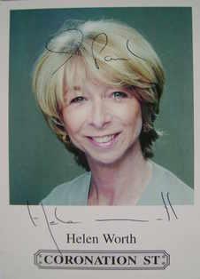 Helen Worth autograph (Coronation Street actor)