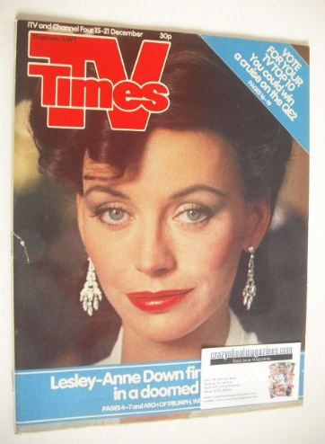 <!--1984-12-15-->TV Times magazine - Lesley-Anne Down cover (15-21 December