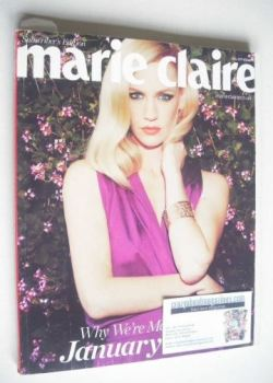 British Marie Claire magazine - May 2011 - January Jones cover (Subscriber's Issue)