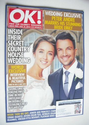 <!--2015-07-21-->OK! magazine - Peter Andre and Emily MacDonagh cover (21 J
