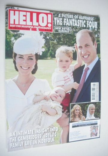 <!--2015-07-20-->Hello! magazine - The Cambridges cover (20 July 2015 - Iss