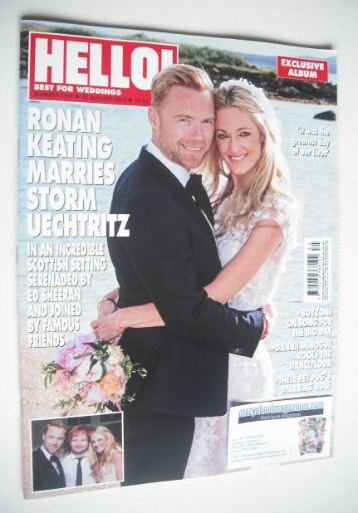 <!--2015-08-31-->Hello! magazine - Ronan Keating and Storm Uechtritz cover