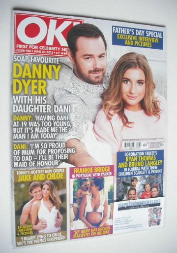 <!--2015-06-23-->OK! magazine - Danny Dyer and daughter Dani cover (23 June