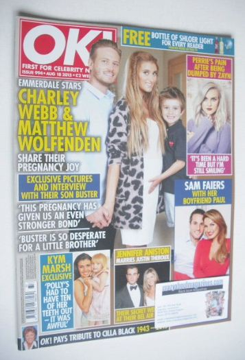 <!--2015-08-18-->OK! magazine - Charley Webb and Matthew Wolfenden cover (1
