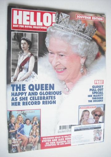 <!--2015-09-14-->Hello! magazine - The Queen cover (14 September 2015 - Iss