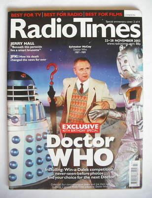 <!--2003-11-22-->Radio Times magazine - Sylvester McCoy cover (22-28 Novemb
