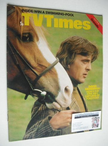<!--1973-08-18-->TV Times magazine - David Hemmings cover (18-24 August 197