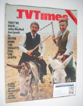 TV Times magazine - John Bluthal and Joe Lynch cover (31 July - 6 August 1971)
