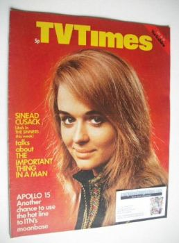 TV Times magazine - Sinead Cusack cover (24-30 July 1971)