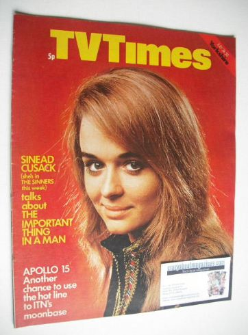 <!--1971-07-24-->TV Times magazine - Sinead Cusack cover (24-30 July 1971)