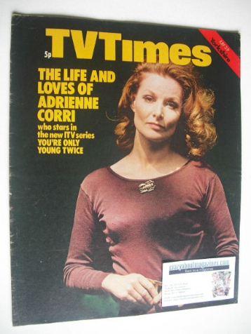 <!--1971-07-03-->TV Times magazine - Adrienne Corri cover (3-9 July 1971)