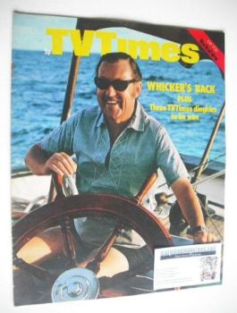 TV Times magazine - Alan Whicker cover (17-23 July 1971)