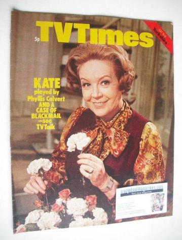 <!--1971-07-10-->TV Times magazine - Phyllis Calvert cover (10-16 July 1971