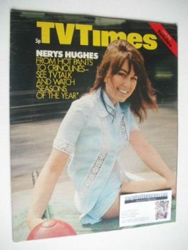 TV Times magazine - Nerys Hughes cover (19-25 June 1971)