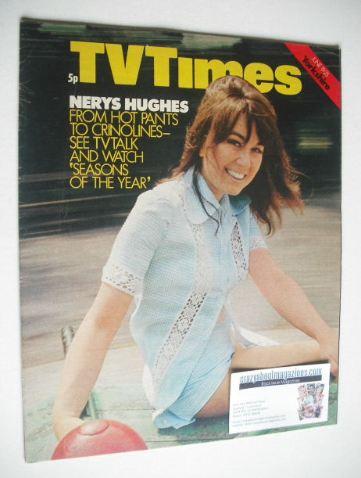 <!--1971-06-19-->TV Times magazine - Nerys Hughes cover (19-25 June 1971)