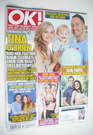 <!--2015-10-20-->OK! magazine - Tina O'Brien cover (20 October 2015 - Issue