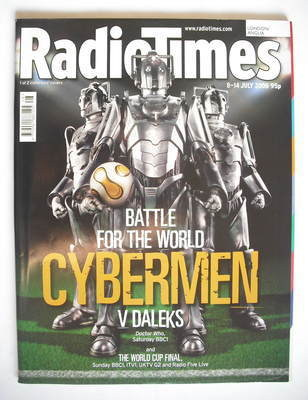 <!--2006-07-08-->Radio Times magazine - Cybermen cover (8-14 July 2006)