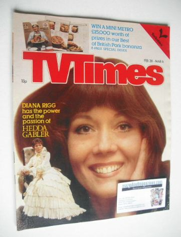 <!--1981-02-28-->TV Times magazine - Diana Rigg cover (28 February - 6 Marc