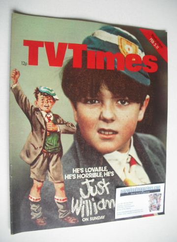 <!--1977-02-05-->TV Times magazine - Just William cover (5-11 February 1977
