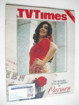 TV Times magazine - Carmen cover (8-14 September 1973)