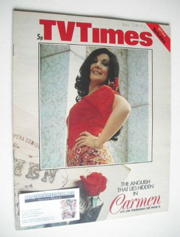 <!--1973-09-08-->TV Times magazine - Carmen cover (8-14 September 1973)