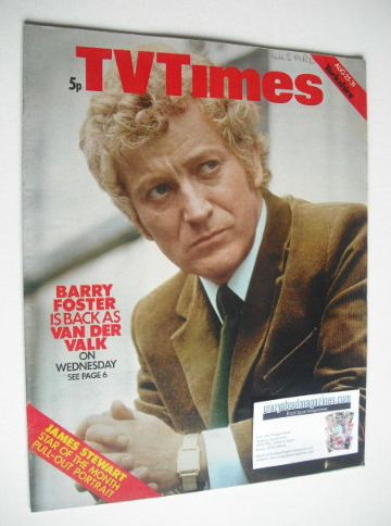 <!--1973-08-25-->TV Times magazine - Barry Foster cover (25-31 August 1973)
