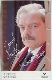 David Jason autograph (hand-signed cast card)