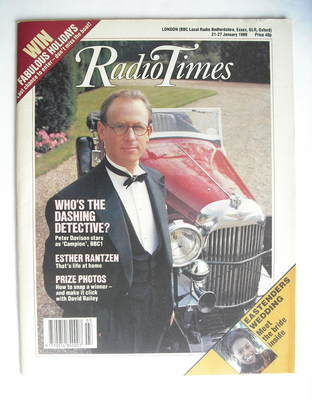 <!--1989-01-21-->Radio Times magazine - Peter Davison cover (21-27 January