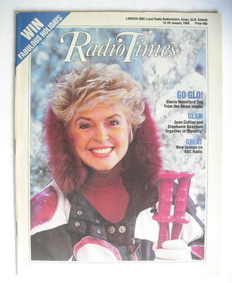 <!--1989-01-14-->Radio Times magazine - Gloria Hunniford cover (14-20 Janua
