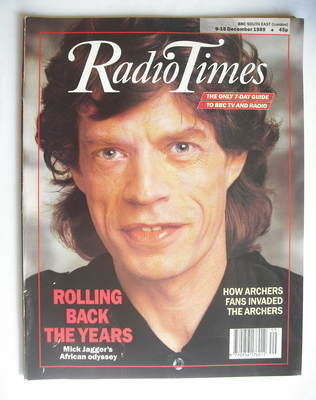 <!--1989-12-09-->Radio Times magazine - Mick Jagger cover (9-15 December 19