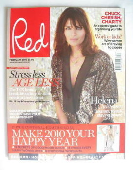 Red magazine - February 2010 - Helena Christensen cover
