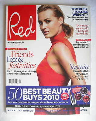 <!--2010-01-->Red magazine - January 2010 - Yasmin Le Bon cover